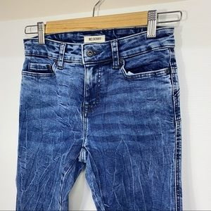 RE:SKINNY Size 6 Mid Rise Acid Wash Distress Jeans